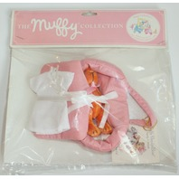 Muffy Vanderbear Pet O Porter Bear and Outfit Bassinette for Baby Bear New Pink