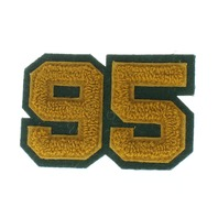 High School Letterman Jacket 95 Gold and Green Uniform Patch