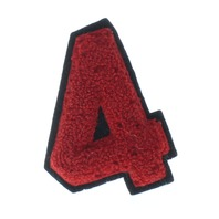 High School Letterman Jacket Number 4  Red and Black Uniform Patch