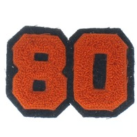 High School Letterman Jacket Number 08 80  Red and Black Uniform Patch