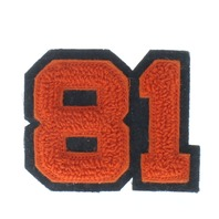 High School Letterman Jacket Number 81  Red and Black Uniform Patch
