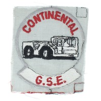 Continental G.S.E.Grey Cloth Iron on Truck Hauling Uniform Patch
