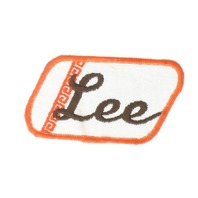 Lee Name Orange and Brown Badge Uniform Patch
