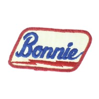 Bonnie Name Red White and Blue Badge Uniform Patch