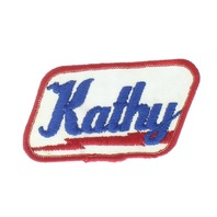 Kathy Name Red White and Blue Badge Uniform Patch
