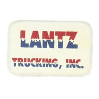 Lantz Trucking Inc Company Patriotic Red White and Blue Uniform Patch
