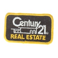 Vintage Century 21 Real Estate Brown and Yellow Uniform Patch
