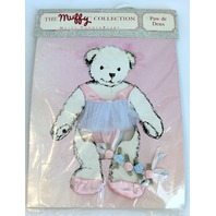 Muffy Vanderbear Paw de Deux Ballerina Shoes and Flowers Outfit Set in Package
