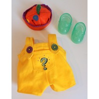 Muffy Vanderbear What's the Secret Password Hat Yellow Outfit Set in Package