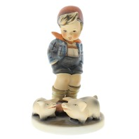 Goebel Hummel Farm Boy #66 Little boy with his Piglets Figurine TMK 5