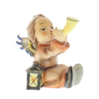 Goebel Hummel Tuneful Angel #359  Little angel with a horn Figurine TMK 5