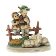 Goebel Hummel Rare Eventide  #99 Little boy and girl with lambs Figurine TMK 5