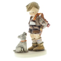 Goebel Hummel Not for You  #317  Little boy with Puppy Dog Figurine TMK 6