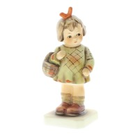 Goebel Hummel I Brought You a Gift  #479  Little Girl with Basket Figurine TMK 6