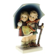 Goebel Hummel Stormy Weather #71 6.3/8 Umbrella Boy and Girl Figurine TMK 6