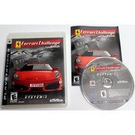 PS3 Play Station 3 Ferrari Challenge Trofeo Firelli Video Game Rated E