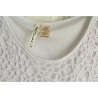 Womens Plus Forgotten Grace Sz 3X White Cut out Lace