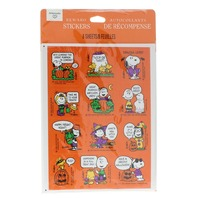 Hallmark Peanuts 8 Sheets Great Pumpkin Halloween Linus Snoopy LUCY 80s Stickers
