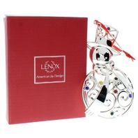 Gorgeous Lenox Sparkle and Scroll Snowman Holiday Christmas Ornament with Box