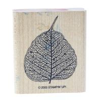 2000 Stampin Up Veined Leaf Wooden Rubber Stamp