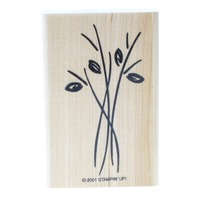 Stampin Up 2001 Flower Stems with Leaves Gr8 for Water Color Wooden Rubber Stamp