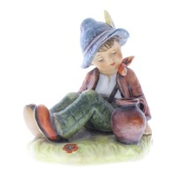 Goebel Hummel Coffee Break Figurine Boy wiht Pot TMK 8 porcelain Special Edition