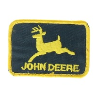 John Deere Farmer Tractor Black and Yellow Uniform Patch