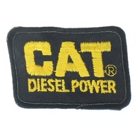 Cat Diesel Power Black and Yellow Uniform Patch