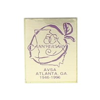 50th Anniversary AVSA  African Violet Hat Lapel Brooch Collectible Trading Pin