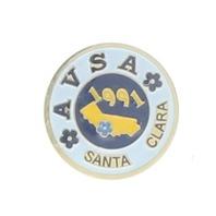 African Violet Society AVSA Santa Clara 1991 Hat Lapel Brooch Collectible
