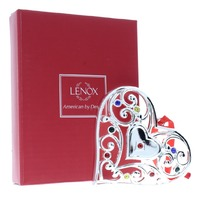 Lenox Jeweled Sparkle and Scroll Love Heart Holiday Christmas Ornament Box