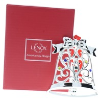 Lenox Jeweled Sparkle and Scroll Bell Holiday Christmas Ornament Box