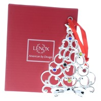 Lenox Jeweled Sparkle and Scroll Tree Holiday Christmas Ornament Box