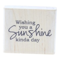 Whipper Snapper Designs Wishing you a Sunshine Kind of Day Set Rubber Stamp