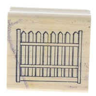 Art Impressions Picket Fence Section Wooden Rubber Stamp