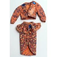 Vintage Barbie Midge Doll 1985 Acid Orange Suit Outfit Set