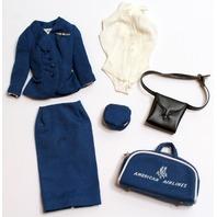 Vintage Barbie 1960's American Airlines Navy Stewardess Suit Set Outfit
