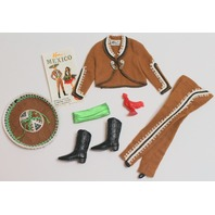 Vintage Barbie Ken Doll in Mexico Outfit Set 1969 Sombrero and Accessories