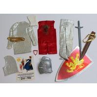 Vintage Ken Arthur Little Theatre Outfit Set 1969 Knight Sword Accessories
