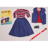 Vintage Barbie Aboard Ship with Camera and Belt Accessories Outfit Set dress
