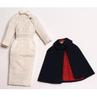 Vintage Barbie Registered Nurse White Pencil Sheath Dress and Cap Set Outfit