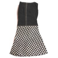 Vintage Barbie Pretty as a Picture Black adn White Gingham Mod Dress Only