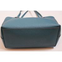Coach Mini City Zip Tote Bag Handbag Purse in Teal Aqua Color