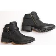 Women/Teen Born Sz 6.5 M Black Shoes Boots Leather