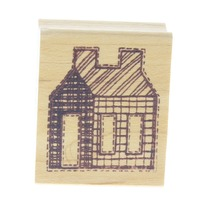 The Cottage Stamper House Building Wooden Rubber Stamp