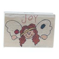 Joy Girl Angel Westwater Enterprises Wooden Rubber Stamp