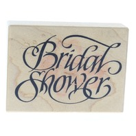 Bridal Shower PSX Words Writing F-1839 Card Making Wooden Rubber Stamp