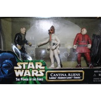 Hasbro Star Wars Power of the Force Catina Aliens Libra Nabrun Leids Takeel Set