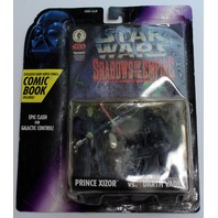 Star Wars Kenner Shadows of the Empire Prince Xizor vs Darth Vadar Comic Book