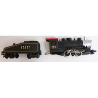 Model Power Tracks and Shifter Engine and Tender 0-4-0